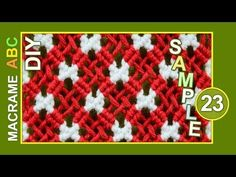 Macrame ABC - pattern sample #23 - YouTube