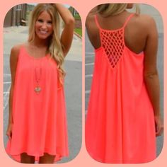 LAST ONE! NWT Orange Crochet Racerback Dress This is a vibrant, lightweight dress in a gorgeous summer color! Wear it with some gladiators or flip flops for a gorgeous summer look! So versatile! Size medium and small. 3rd pic is the true color! Boutique Dresses Mini
