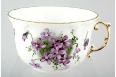 Hammersley - Victorian Violets - Acorn over Crown - Breakfast Cup