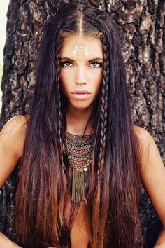 We deeply hope these 70 Most Gorgeous Messy Boho Bohemian Hairstyles Design For Prom be your favorite choice. We hope you love it and save it. # boho Hairstyles 70 Most Gorgeous Messy Boho Bohemian Hairstyles Design For Prom - Page 44 of 69 Boho Gypsy, Gypsy Look, Hippie Boho, Gypsy Style, Tribal Makeup, Boho Makeup, Hair Makeup, Tribal Hair, Bohemian Hairstyles
