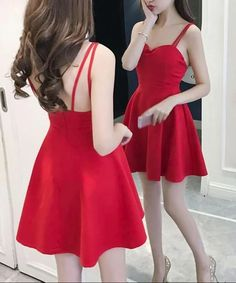 Lovely Mini Women Straps Sexy Party Dress in Stock, Red Women Dress, Mini Dress - Party Dresses Cute Dresses, Cute Outfits, Maxi Dresses, Awesome Dresses, Beach Dresses, Looks Teen, Girl Fashion, Fashion Dresses, Sexy Party Dress
