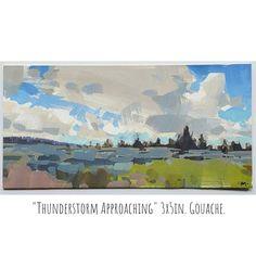 Gouache Painting, Still Life, Landscape Paintings, Modern Art, Artworks, Environment, Instagram, Idea Paint, Landscape