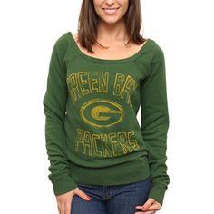 Green Bay Packers Ladies Classic Off-The-Shoulder Sweatshirt - Green   Fanatics ® c8462f1da