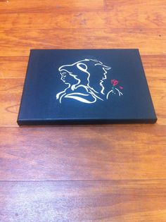 Beauty & The Beast Hand Painted Canvas by CustomCreations2011