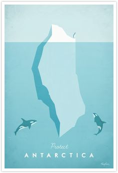 Vintage Travel Poster - Antarctica Vintage Travel Art