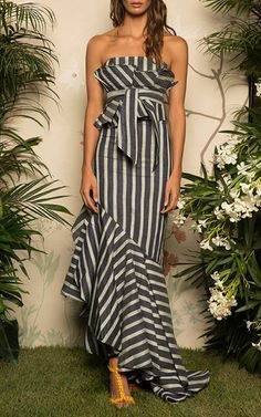 M'o Exclusive Striped Celia Top And Belt by JOHANNA ORTIZ for Preorder on Moda Operandi