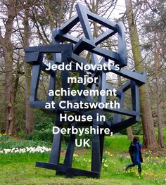 Jedd Novatt - Monumental work Chaos Meteoro was formally unveiled at Chatsworth House in Derbyshire, United Kingdom on April