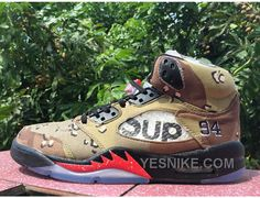 "Buy Supreme x Air Jordan 5 ""Camo"" Desert Camo/Fire Red-Black 2015 For Sale from Reliable Supreme x Air Jordan 5 ""Camo"" Desert Camo/Fire Red-Black 2015 For Sale suppliers.Find Quality Supreme x Air Jordan 5 ""Camo"" Desert Camo/Fire Red-Black 2015 For Sale a Nike Kobe Shoes, Nike Shox Shoes, Nike Shox Nz, New Jordans Shoes, Nike Lebron, Air Jordans, Nike Kyrie, Air Jordan 5 Retro, Nike Air Jordan Retro"