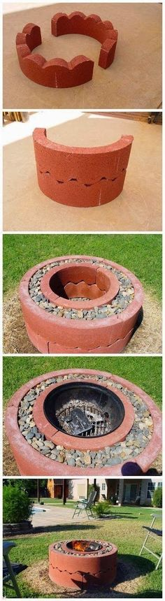 $50 Fire Pit Using Concrete Tree Rings - Detailed Step-by-Step Instructions DIY Outdoor Decor #diy #homedecor #outdoorentertaining