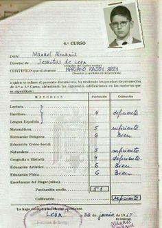 Las calificaciones de Rajoy