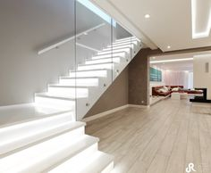 Image search result for query stairs - Interior - Anbau Modern Staircase, Staircase Design, Bungalows, Upside Down House, Modern Floor Plans, Flat Roof, Design Moderne, Creative Home, Home Accessories