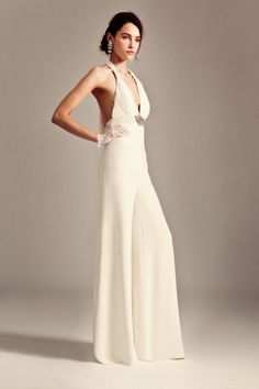 Nepheli Jumpsuit, Butterfly Belt from the Temperley Bridal Iris Collection