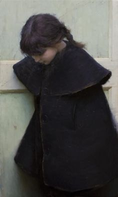 Jeremy Lipking - Skylar in a Black Coat