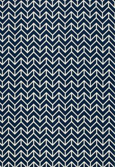 Schumacher Chevron Print in Navy by sparkmodern on Etsy, $55.00
