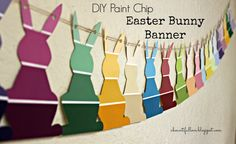 A Bountiful Love: DIY Paint Chip Easter Bunny Banner