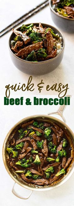 Easy beef and broccoli that is ready in 30 minutes! So much better than take-out #beef #broccoli #rice via @april7116