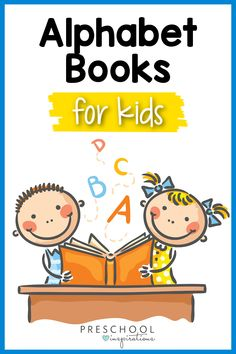Here is a comprehensive list of awesome alphabet books for preschool! They are super cute and fun to read during circle time, but also help teach the letters of the alphabet. Even toddlers will love these ABC books! Preschool Alphabet, Teaching The Alphabet, Preschool Books, Alphabet Activities, Learning Activities, Activities For Kids, Alphabet Books, Alphabet Sounds, Apple Books