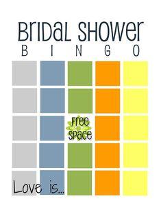 12 Free Bridal Shower Bingo Template   visit www.freetemplateideas.com