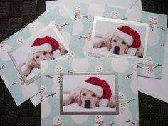Christmas Labrador dog card pack of 3 Handmade Greetings dog puppies card Thanksgiving Xmas Holidays Seasons greetings card Handmade Unique by CardsgaloreUK on Etsy