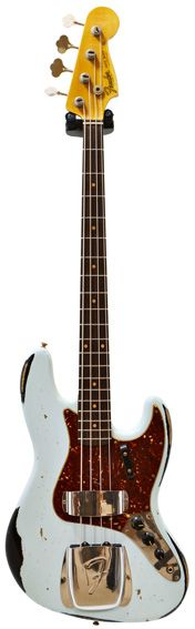 Fender Custom Shop 64 Jazz Bass Heavy Relic Faded Sonic Blue over Sunburst #R78471