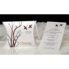 ... türkis & braun - Hochzeitseinladungen - Hochzeiten - PrintandcopyBOX