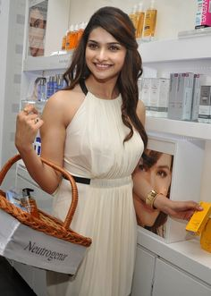 Prachi Desai in White Dress photo-shoot during Neutrogena Products In Mumbai