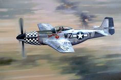 North American P-51D Mustang 'Bum Steer', a P-51D Mustang makes a low level strafing run on enemy positions - 1944