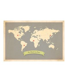 I think every time zulily has maps, I pin one. I love this one tho'---a heart on places where fam/friends live. WANT.