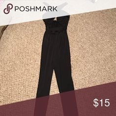 Jumpsuit Black jumpsuit. Worn once. No tags. Forever 21 Pants Jumpsuits & Rompers