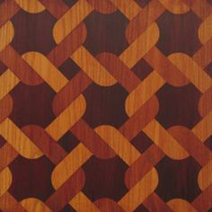 Faux marquetry with Antique Mahogany Stain and Seal
