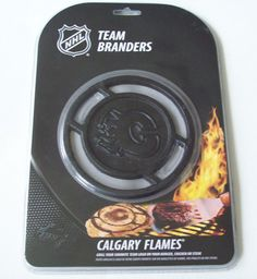 NHL Hockey Team Branders Calgary Flames Logo From Canada For Barbecue or Grill #PangeaBrands