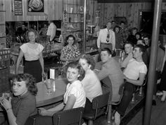 The Soda Fountain in Monroe, Oregon, photographed by F. R. Schultz in 1949.