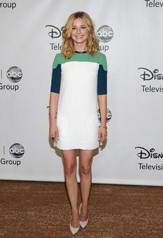 Emily VanCamp in a Diane von Furstenberg (DVF) dress