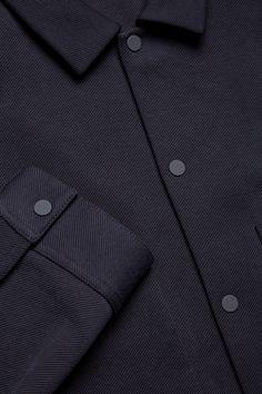 COS- Twill shirt jacket in Indigo Collar Designs, Shirt Designs, Shirt Jacket, Shirt Outfit, Cos Shirt, Mens Kurta Designs, Twill Shirt, Stylish Jackets, Clothing Photography