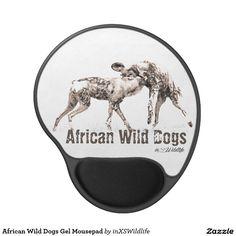 African Wild Dogs Gel Mousepad