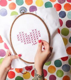 Cross Stitch Heart | The Crafted Life
