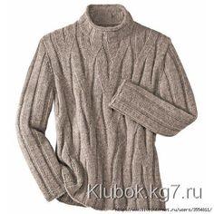 Férfi pulóver hamis fonat