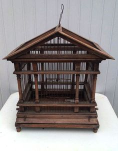 Online veilinghuis Catawiki: Houten vogelkooi - ca. 1930 - Frankrijk.