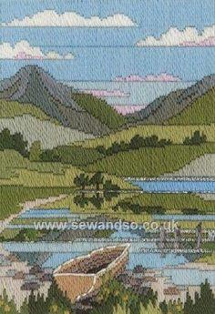 Buy Mountain Spring Long Stitch Kit Online at www.sewandso.co.uk