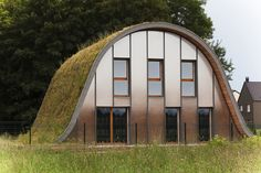 New Wave House with Green Roof Constructed in France