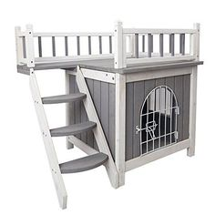 """Made from kiln dried ceder and treated with WATER-BASED paint Inner dimension:18""""Lx18""""Wx14""""H,more details please refer to the PICTURE Grey and white trim,easily assemble with pre-drilled hole"""
