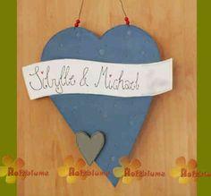Herz Türschild mit Namen