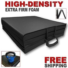 699b7340ea1b FITNESS MANIAC Tri-Fold Folding Thick Exercise Mat High-Density Firm with  Carrying Handles