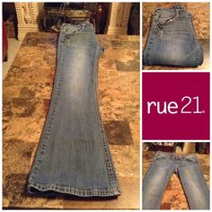 Medium Wash Jeans By Rue 21 Rue 21 Medium Wash Jeans.  Size 5/6 Short.  Inseam 29. 98% Cotton and 2% Spandex. In overall good condition with normal wear.  Smoke free home. ALL OFFERS through the offer button ONLY. Rue 21 Jeans
