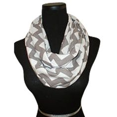 Grey Chevron Infinity ScarfCircle Loop by ATrendyChicBoutique, $14.99