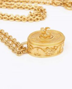 Vintage Karl Lagerfeld Pill Box Necklace | Click to buy or visit www.vintageheirloom.com