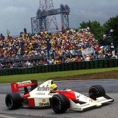 """#montrealmoments #f1 F1 legend Ayrton Senna on his way to victory in the 1990 Canadian Grand Prix in his McLaren Honda MP4/5B in Montreal #legend #victory #canadiangp #canadiangrandprix #sennasempre #ayrtonsenna #senna..."