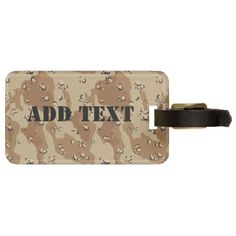 SOLD! ~ Desert Camouflage  Bag Tag by #Camouflage4you shipping to Selkirk, NY