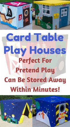 These card table pla These card table playhouses are adorable and perfect for pretend play! Click to see them all! #playhouse #kidstoys #learningthroughplay {Affiliate}