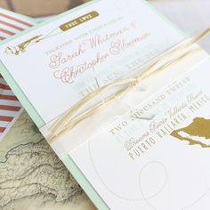 Modern Travel Wedding Invitation